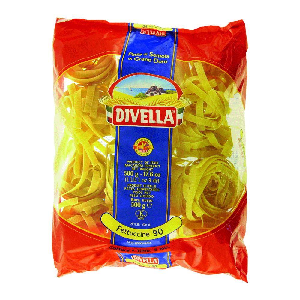 Massa Fettuccine Ninho N°90 Divella 500g – La Pastina