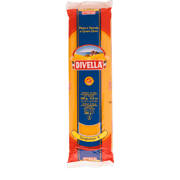 Massa Spaghettini N°09 Divella 500g – La Pastina
